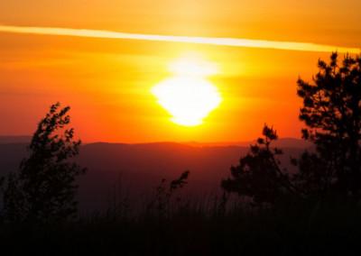 Sonnenuntergang über Virginia